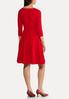 Plus Size Red Seamed Midi Dress alternate view