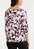 Plus Size Floral Scrunch Hem Top alternate view