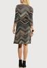 Plus Size Chevron Faux Wrap Dress alternate view