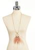 Blush Geo Stone Feather Necklace alternate view