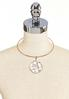 Lucite And Stone Pendant Necklace alternate view