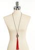 Long Tassel Pendant Necklace alternate view