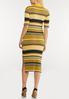 Plus Size Striped Sweater Dress alternate view
