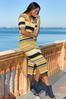 Plus Size Striped Sweater Dress alt view