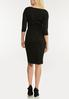 Plus Size Black Belted Shift Dress alternate view