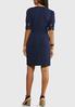 Plus Size Navy Tie Front Dress alternate view