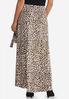 Plus Size Leopard Faux Wrap Maxi Skirt alternate view