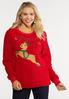 Plus Size Light Up Reindeer Sweatshirt alt view