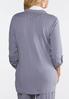 Plus Size Stripe Knit Blazer alternate view