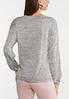 Plus Size Button Side Knit Top alternate view