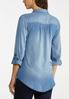 Plus Size Lace Up Chambray Top alternate view