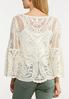 Embroidered Mesh Top alternate view