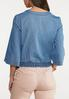 Plus Size Chambray Side Tie Top alternate view
