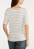 Plus Size Stripe Ribbed Top alternate view