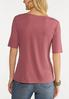 Plus Size Ribbed Square Neck Top alternate view
