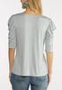 Plus Size Draped Cold Shoulder Tee alternate view