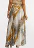 Watercolor Wide Sweep Maxi Skirt alternate view