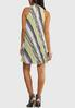 Plus Size Stripe Pleated Swing Dress alternate view