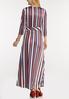 Petite Stripe Wrap Maxi Dress alternate view