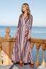 Petite Stripe Wrap Maxi Dress alt view