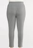 Plus Size White Striped Leggings alternate view