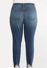 Plus Size Destructed Hem Skinny Jeans alternate view