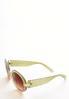 Two- Tone Round Sunglasses alt view
