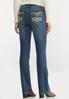 Petite Stud Stitch Bootcut Jeans alternate view