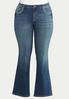 Plus Size Stud Stitch Bootcut Jeans alternate view