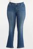 Plus Petite Sparkling Floral Pocket Jeans alternate view