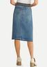 Plus Size Belted Denim Skirt alternate view