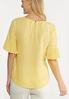 Pleated Flutter Sleeve Top alternate view