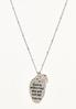 Silver Inspirational Charm Necklace alt view