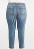 Plus Size Distressed Ankle Skinny Jeans alternate view