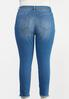 Plus Size Distressed Ankle Skinny Jeans alt view