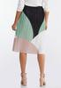 Colorblock Pleated Midi Skirt alternate view