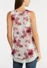 Plus Size Floral Layered Tank alternate view