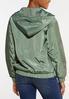 Plus Size Half Zip Mesh Jacket alternate view