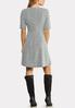 Zip Front Fit Flare Dress alternate view