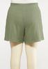 Plus Size Knit Active Shorts alternate view