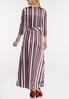 Plus Size Stripe Wrap Maxi Dress alternate view