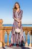 Plus Size Stripe Wrap Maxi Dress alt view