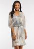 Plus Size Watercolor Slip Dress Set alt view