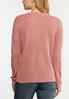 Plus Size Rose Lace Up Sweater alternate view