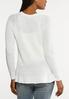 Plus Size Pullover Peplum Sweater alternate view