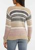 Plus Size Yarn Knit Striped Sweater alternate view