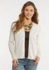 Button Down Cropped Cardigan alt view