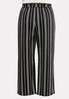 Plus Size Striped Tie Belted Pants alternate view