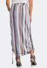 Plus Size Stripe Ruched Skirt alternate view