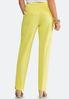 Petite Yellow Scalloped Pants alternate view